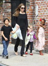 Angelina Jolie Takes A Lovely Stroll With Her Children